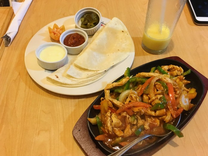 Glorious fajitas from Munchies on that fateful night