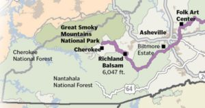 Blue Ridge Parkway in Path of Total Solar Eclipse in NC