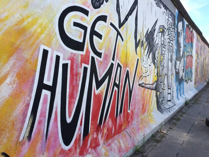 Get Human, East Side Gallery, Berlin, Germany