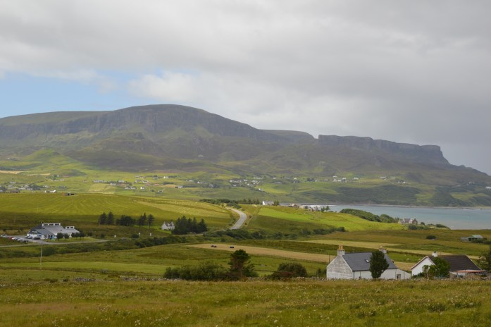 View of Staffin and the Quiraing, Isle of Skye, Scotland