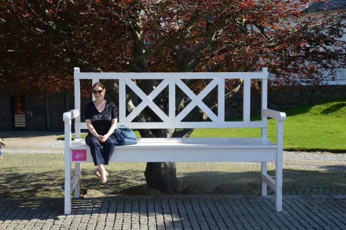 Big bench in Tórshavn, Faroe Islands