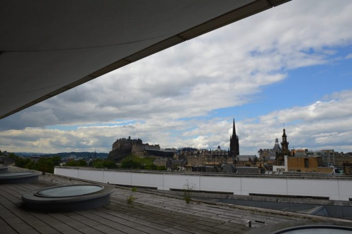 View of Edinburgh Castle from the National Museum of Scotland