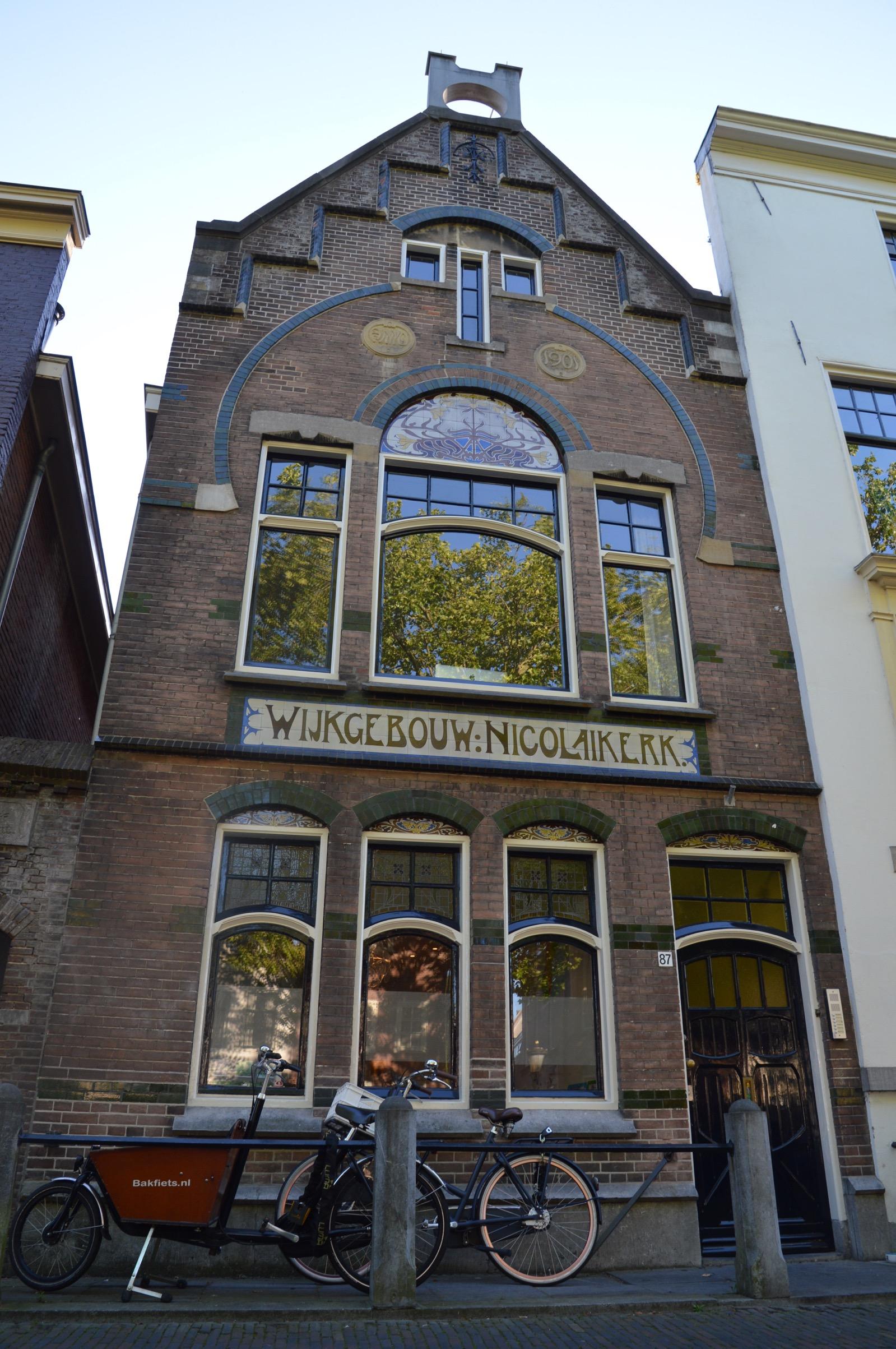 Nieuwegracht 87, Wijkgebouw Nicolaikerk, art nouveau, Utrecht, the Netherlands
