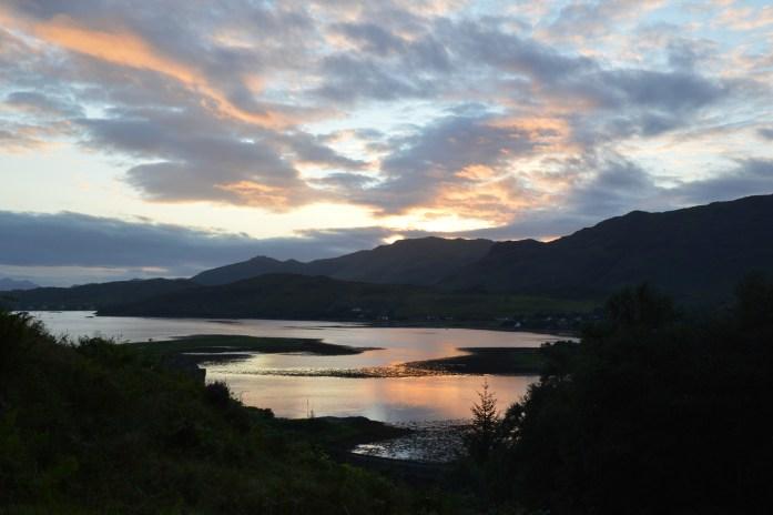 Sunset in Dornie, Scotland