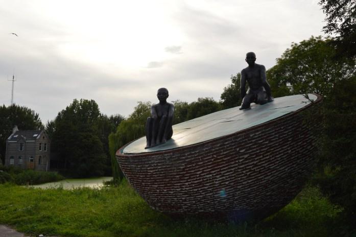 Sculpture, Westerpark, Amsterdam, the Netherlands