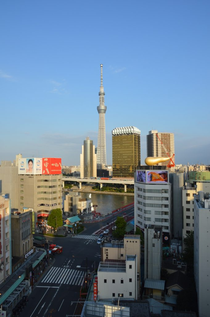 View of Tokyo Skytree from Asakusa Culture and Tourism Center, Tokyo, Japan