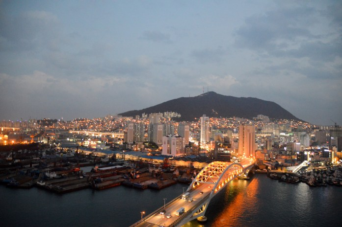 View of Busan from Lotte Department Store, South Korea