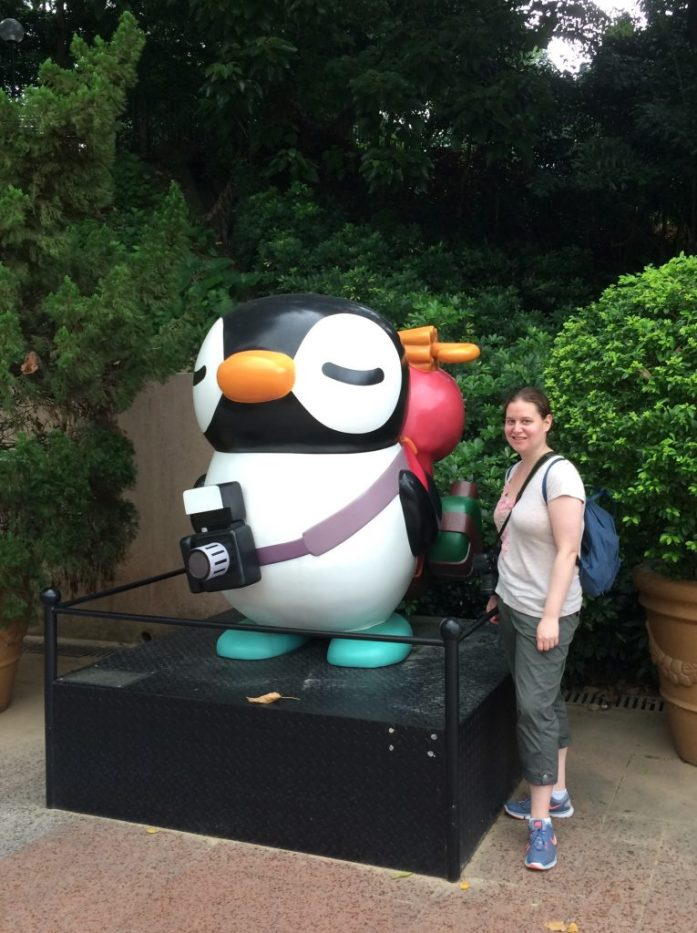 Tourist penguin, Kowloon Park, Hong Kong