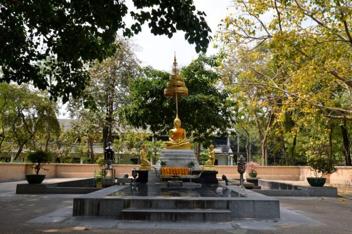 Shrine in Benjakitti Park, Bangkok, Thailand