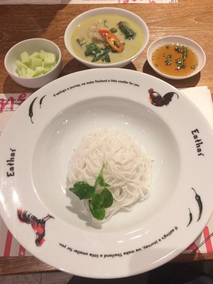 Green curry at Eathai, Bangkok, Thailand