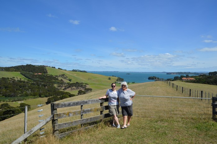 With Bronwyn on Waiheke Island, New Zealand