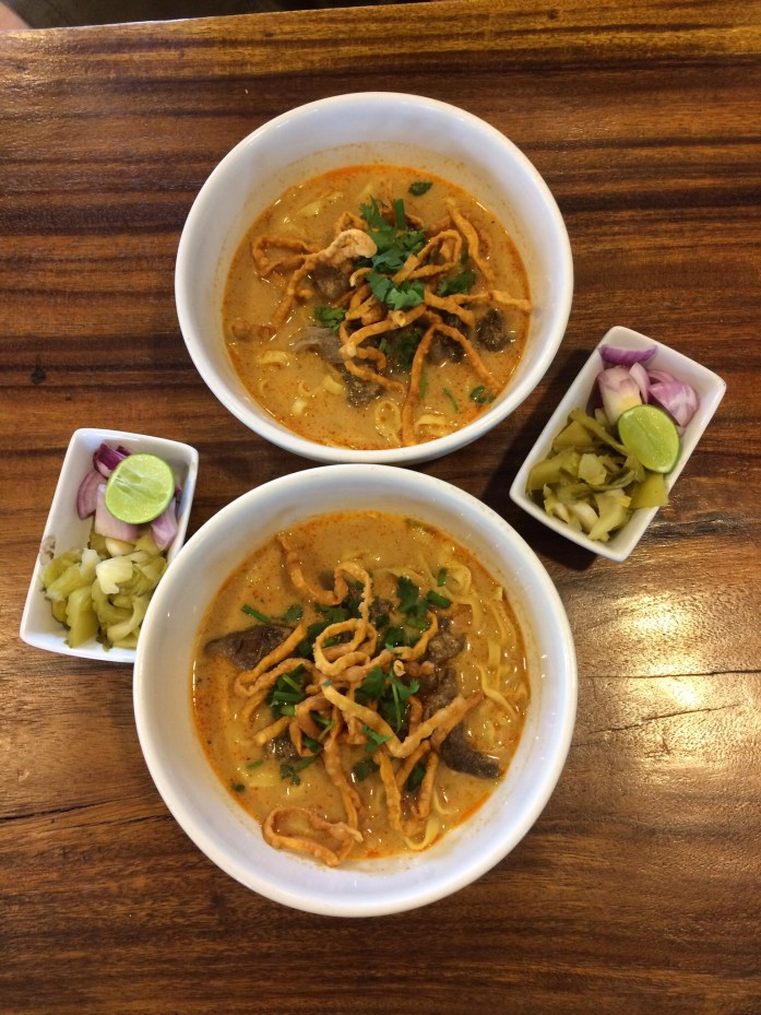 Khao soi, Mae Pa Sri Restaurant, Chiang Mai, Thailand