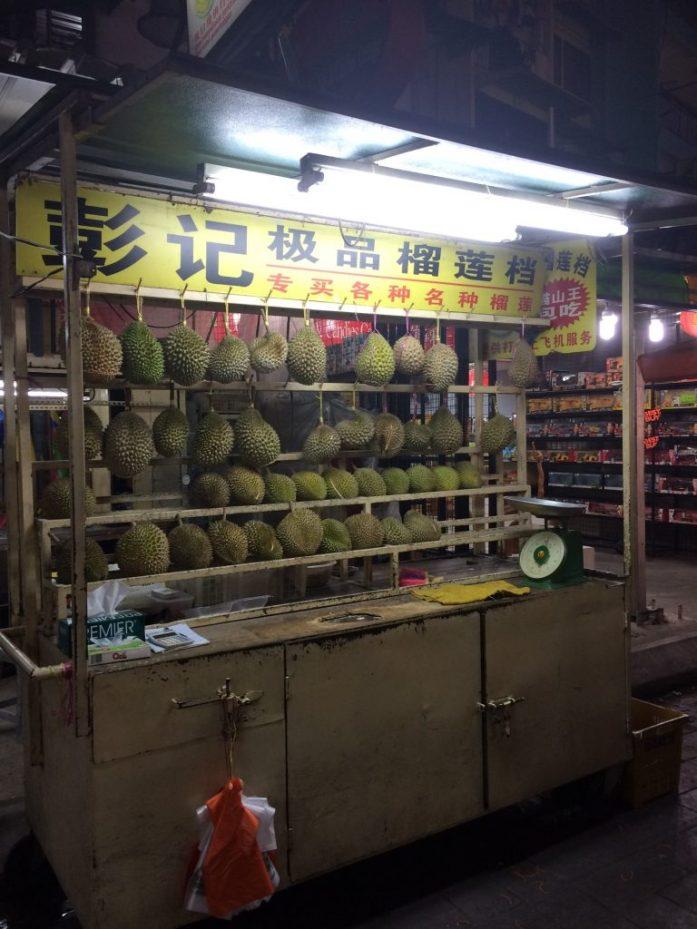 Durian, Jalan Alor Night Food Court, Kuala Lumpur, Malaysia