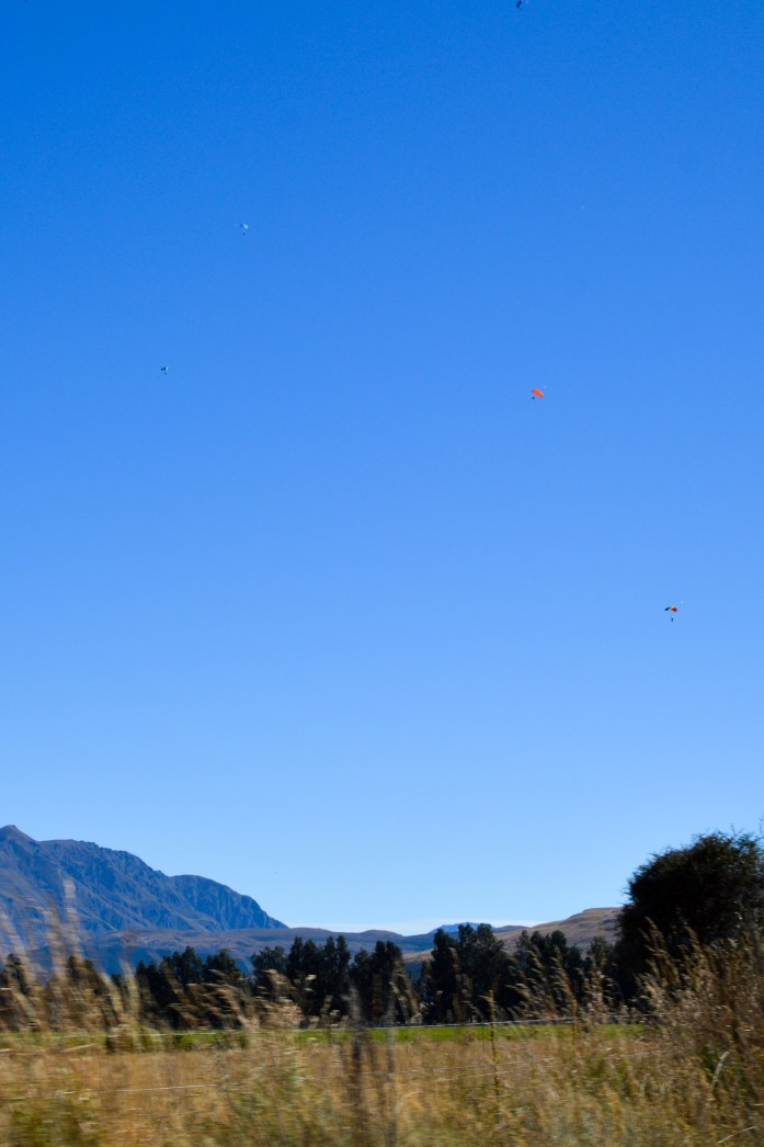 Skydivers, Queenstown, New Zealand