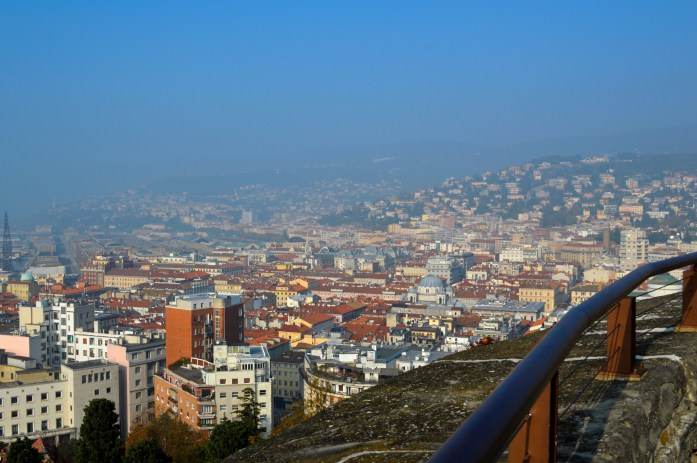 View of Trieste, San Guisto hill, Italy