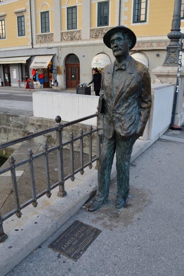 James Joyce statue, Trieste, Italy
