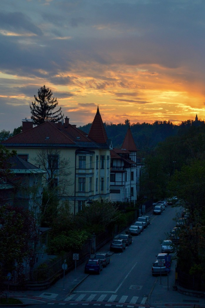Sunset, Ljubljana, Slovenia