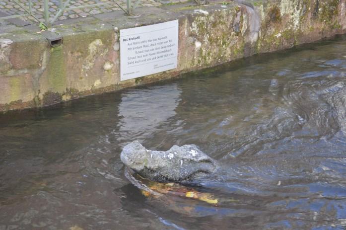 Das Krokodil, Gewerbekanal, Freiburg, Germany