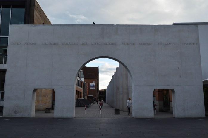 Straße der Menschenrechte (The Way of Human Rights), Nuremberg, Germany