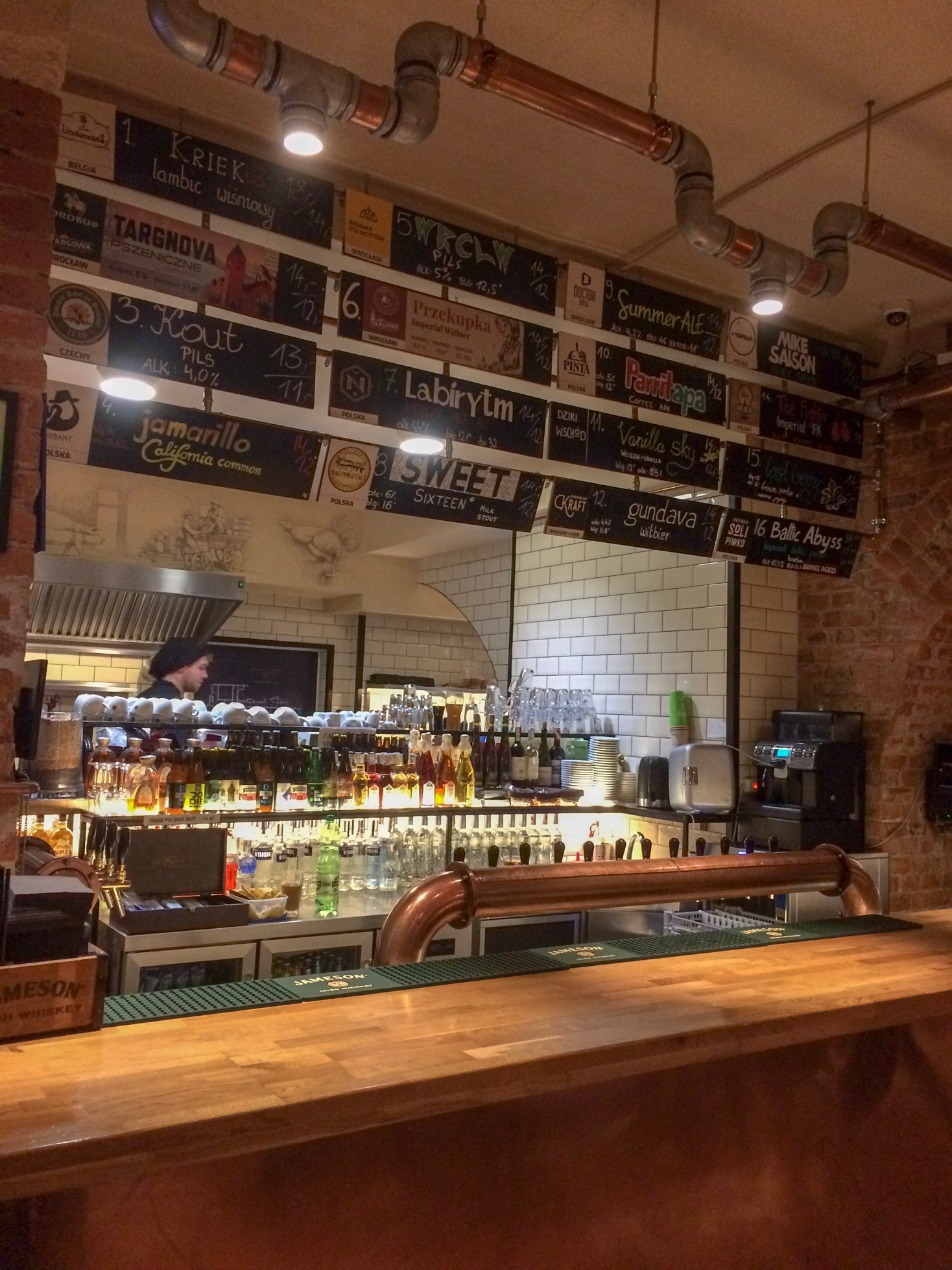 Tap beer list, Targowa Craft Beer and Food, Wroclaw, Poland