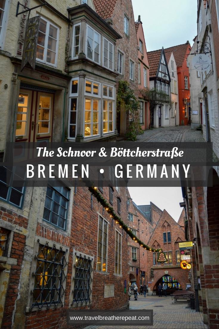 Exploring two unique Bremen attractions: the Schnoor and Böttcherstraße; Bremen, Germany; #bremen #germany #deutschland #schnoor #altstadt #Böttcherstraße #europe