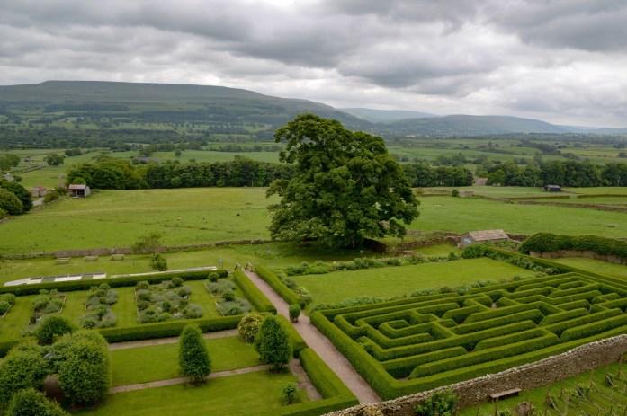 Bolton Castle grounds, Wensleydale, Yorkshire Dales, UK