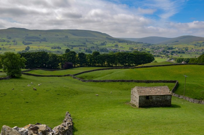 View of Hawes, North Yorkshire, UK