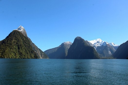 Views from cruise at Milford Sound New Zealand