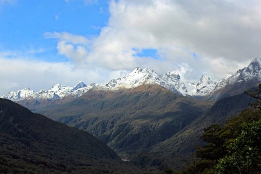 View of mountains on Milford Road