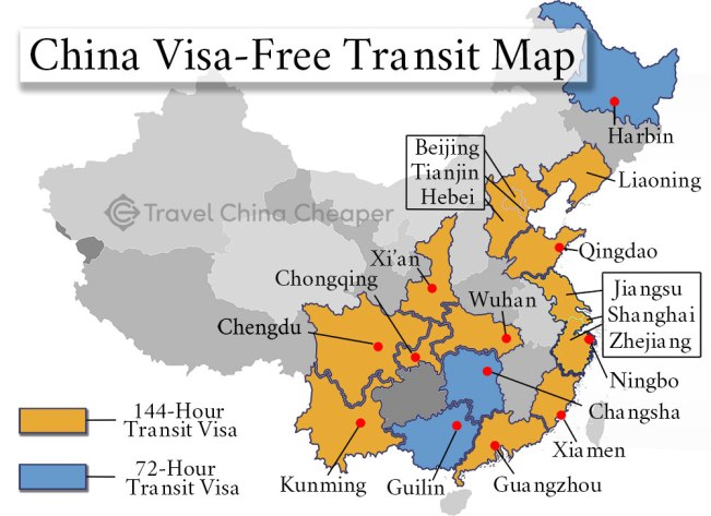 China Visa-Free Map Updated as of 2020