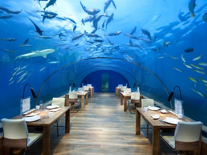 Unterwasser-Restaurant im Conrad Maledives Rangali, Foto: Conrad Maledives Rangali Island