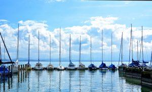 Chiemsee Hafen Wassersport