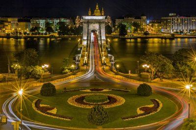 Donauradweg Kettenbrücke Budapest
