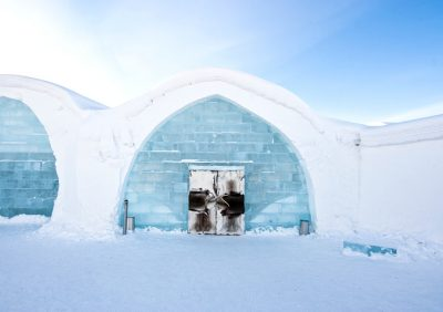 Eishotel Icehotel Iglu Eingang