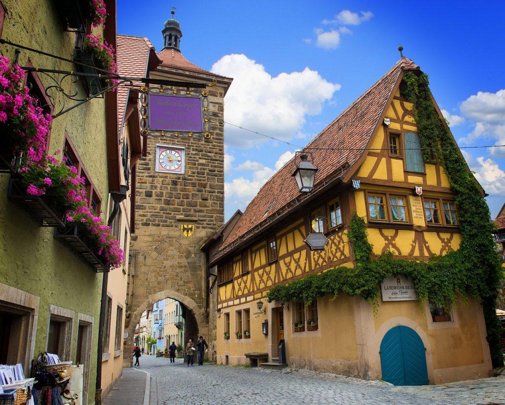 Romantische Straße Deutschland. Rothenburg.