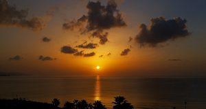 Urlaub im Februar: Sonnenaufgang