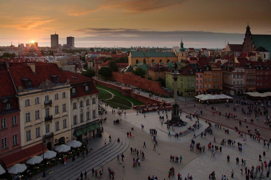 Top 10 Sehenswürdigkeiten Warschau. Schlossplatz.