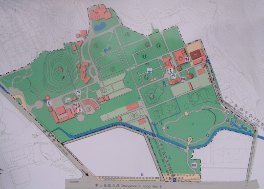 Map of Shilin Presidential Residence
