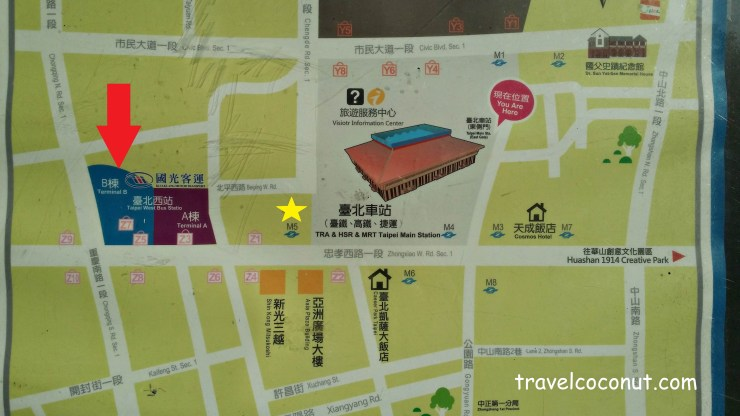 Taipei West Bus Station map