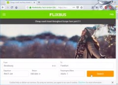 Flixbus booking review : Main search form
