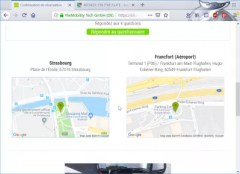 Flixbus booking review : Map with pickup points