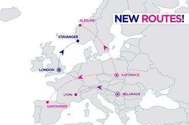 Wizz Air poleci z Katowic do Santander i Alesund