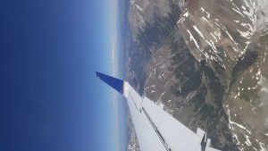 Airplane wing overlooking the montrose valley