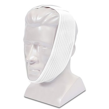 Best Chin Strap For Sleep Apnea - Premium White Chin Strap with Extra Support