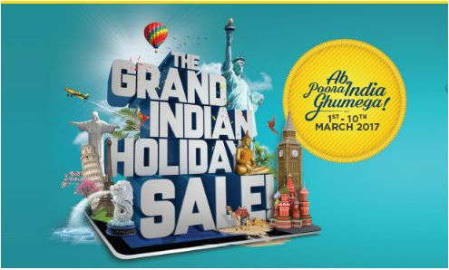 Don't miss THE GRAND INDIAN HOLIDAY SALE by Thomas Cook India
