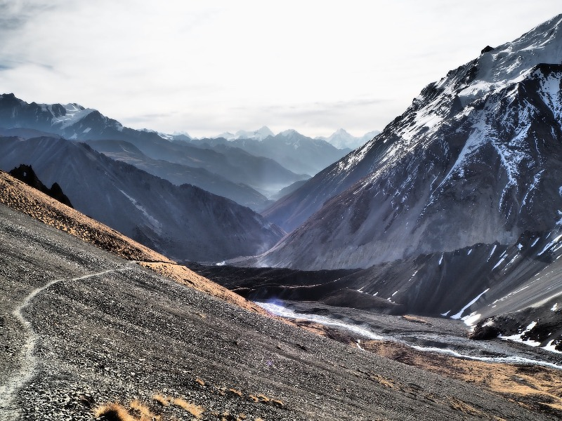 The jaw-dropping visuals of high altitude mountains in Nepal