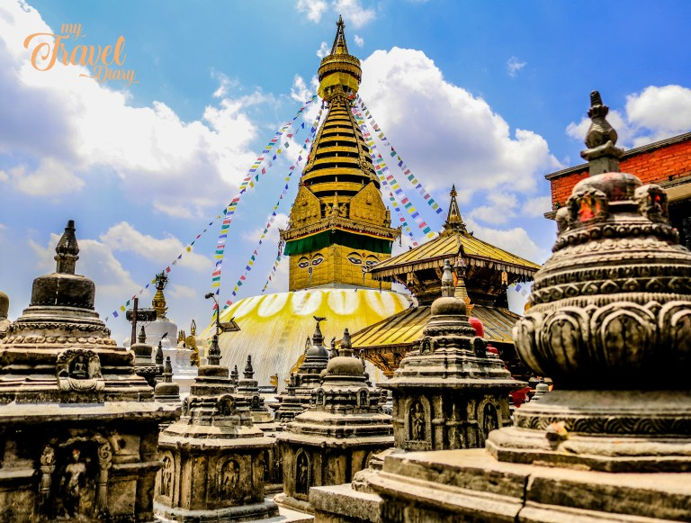 Swayambhunath Temple in one of the not to miss places in Kathmandu