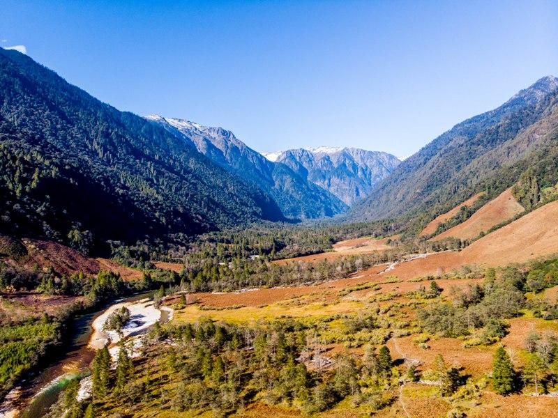 Aerial view of Dri valley of Anini, Arunachal Pradesh