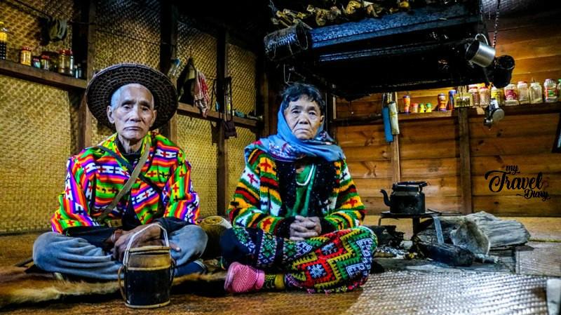 Adorable Idu Mishmi Couple in their house in Dembuen village