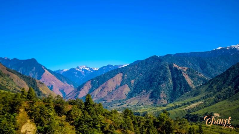 Breathtaking landscape accompanies you on the way to Anini in Arunachal Pradesh